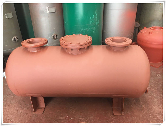 Carbon Steel Horizontal Air Compressor Receiver Tank Of Screw Compressor Medium Pressure